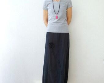 Women's Skirt Womens Cotton Skirt Black TShirt Skirt Straight Skirt Upcycled Repusprosed Fashion Skirt T-Shirt Clothing Fall Autumn ohzie