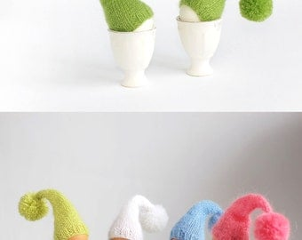SALE 10% OFF Color mix. Set of 4 knitted egg warmers