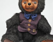Robert Raikes Collectible Wooden Bear Bentley Signed Limited Edition Vintage 1985 Collectible Bear