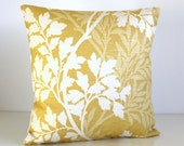 Throw Pillow Cover, 16x16 Cushion Cover, 16 Inch Pillow Cover - Hedgerow Sunshine