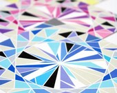 Gemstone Origami Paper - Medium 5 inch, 8 sheets, Diamond Gems,  Origami Supplies, Paper Supplies, Gift idea