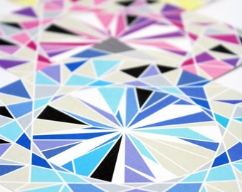 Gemstone Origami Paper - Medium 5 inch, 8 sheets, Diamond Gems,  Origami Supplies, Paper Supplies, Gift idea