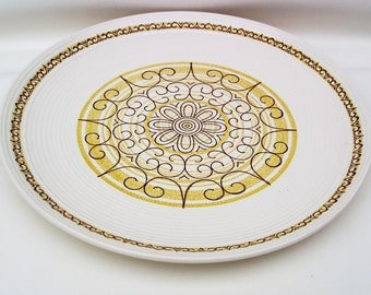 Vintage Serving Platter, Round Serving Tray, Mid Century Platter, Ironstone Platter, Large Party Tray, Cake Plate