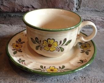 Vintage Metlox Vernon Ware Teacup Happy Days Poppytrail Tea Cup Cocoa Coffee Mug Set - #4647