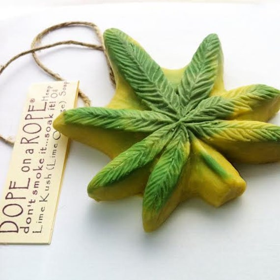 Dope on a Rope Soap - Lime Kush Hemp Soap - Hemp Soap - Hemp Oil - Lime and Orange Oil - Gifts for Her - Gifts For Him