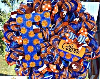 Deco Mesh Deluxe Florida Gators Wreath, deco mesh wreath, wreath, football wreath
