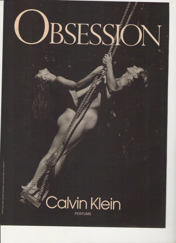 1992 Calvin Klein Obsession Perfume Advertisement 90s Mens