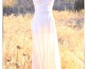 Wrap Infinity Dress Ivory Natural Cream Off White / Tea / Midi / Maxi Length Summer Wedding Dress
