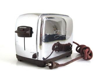 Camfield Toaster Retro Chrome Kitchen Appliance #24-1-2 Automatic Pop Up Toaster