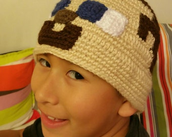Crocheted  Steve  Minecraft  Hat