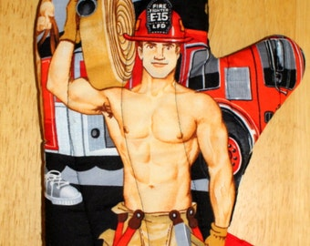Firemen Oven Mitt