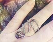 Custom Made Rings, Silver Ring, Gold Ring, Wire Wrapped Ring, Elvish Engagement Ring, Custom Ring, Elven Ring, Midi Ring, LOTR Ring