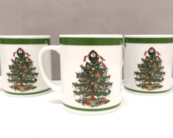 8 Christmas Mugs by Georges Briard, set of 8