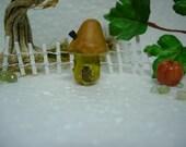 Miniature Mushroom House for fairy garden terrarium gnome garden toadstool planters indoor / outdoor miniature garden