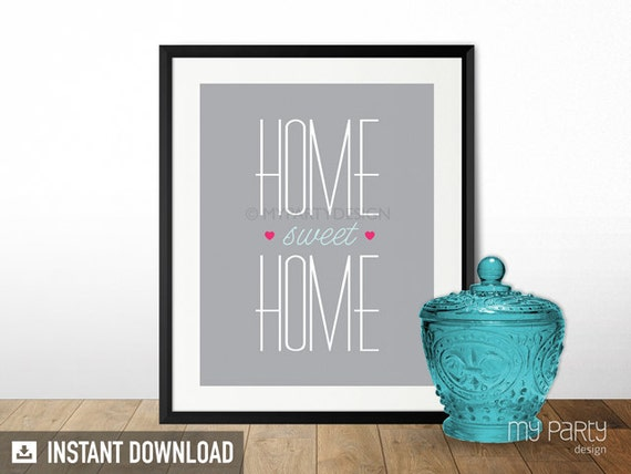 Home sweet home 8x10 printable sign print home decor - Home sweet home decorative accessories ...