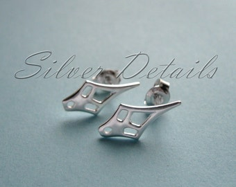 Classic Sterling Silver Ear Studs with Earnuts 925 model ES115 1 pair