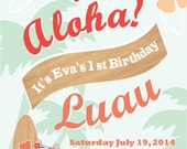 Aloha Luau Party Invite