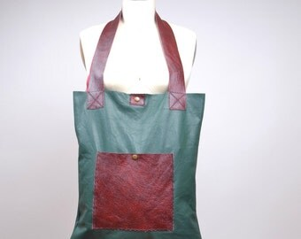 Large Leather Tote - Leather Tote Bag - Upcycled Leather Tote Bag - Everyday Leather Tote
