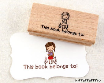 30% OFF SALE This book belongs to 04 Rubber Stamp