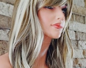 Heidi // Natural Highlighted Synthetic Wig