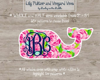 Lilly Pulitzer Vineyard Vines Inspired Whale Monogram