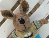 Bunny Rabbit Knit Toy - Plush Stuffed Animal - Kids Toy - Boy Toy - Hand Knit Bunny Rabbit - Children Toy - Stuffed Rabbit - Easter Toy Ryan