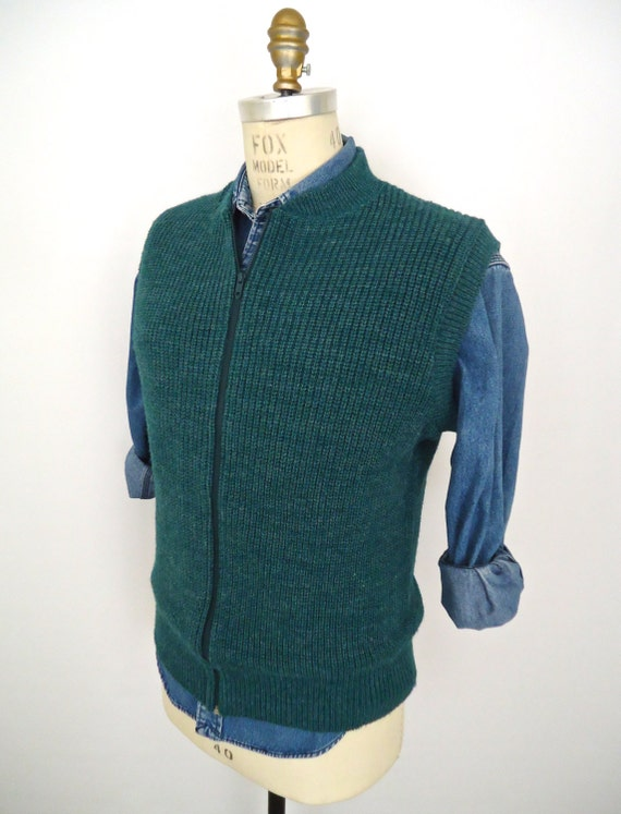 Zip Up Sweater Vest 98