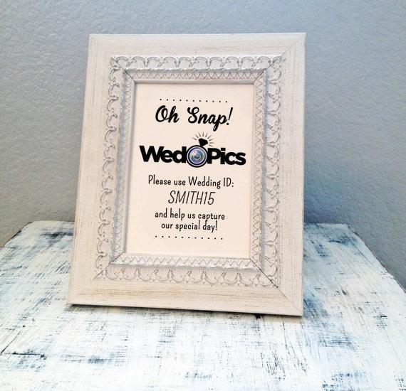 Items Similar To 8x10 WedPics App Wedding Sign
