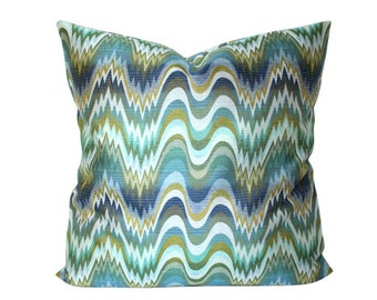 Jonathan Adler Acid Palm Pillow Cover in Surf