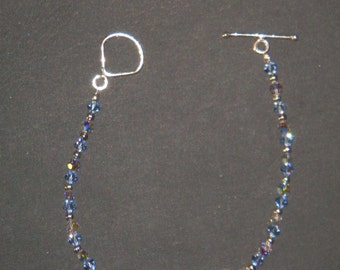 I Heart Art blue and clear crystal bracelet