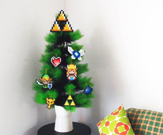 Legend of zelda inspired christmas tree decoration set 7 for Decoration zelda