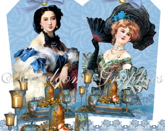 Victorian Women Tags 8 Victorian Vintage Women Tags Download Vintage French Victorian Woman Tags For Scrapbooks, Gift Tags, Cards et