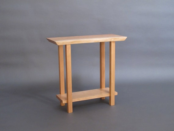 Narrow live edge side table small accent table narrow for Small occasional tables