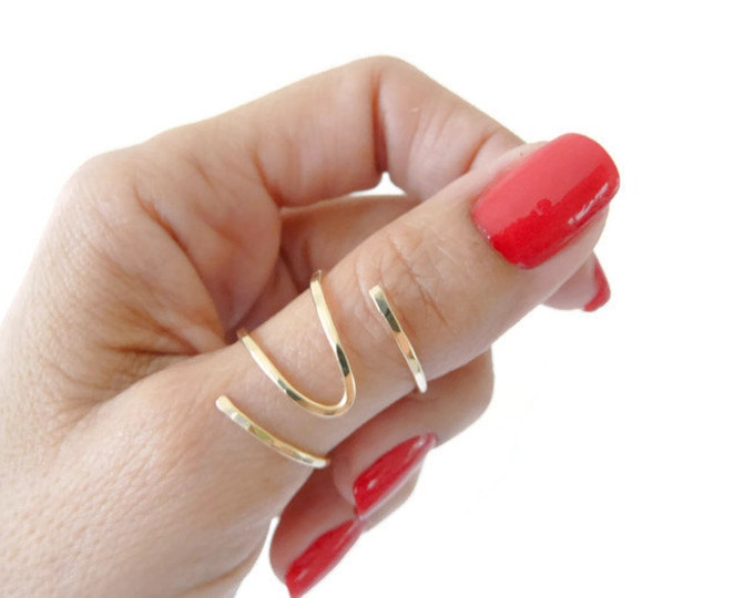 Thumb Ring//Gold Filled Ring//Adjustable Ring//Index Ring//Women Ring