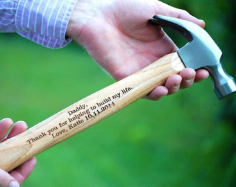 Personalized Hammer, Father of the Bride/Groom, Hammer Personalized Wedding Gift, Groomsmen Hammer, Wedding Keepsake