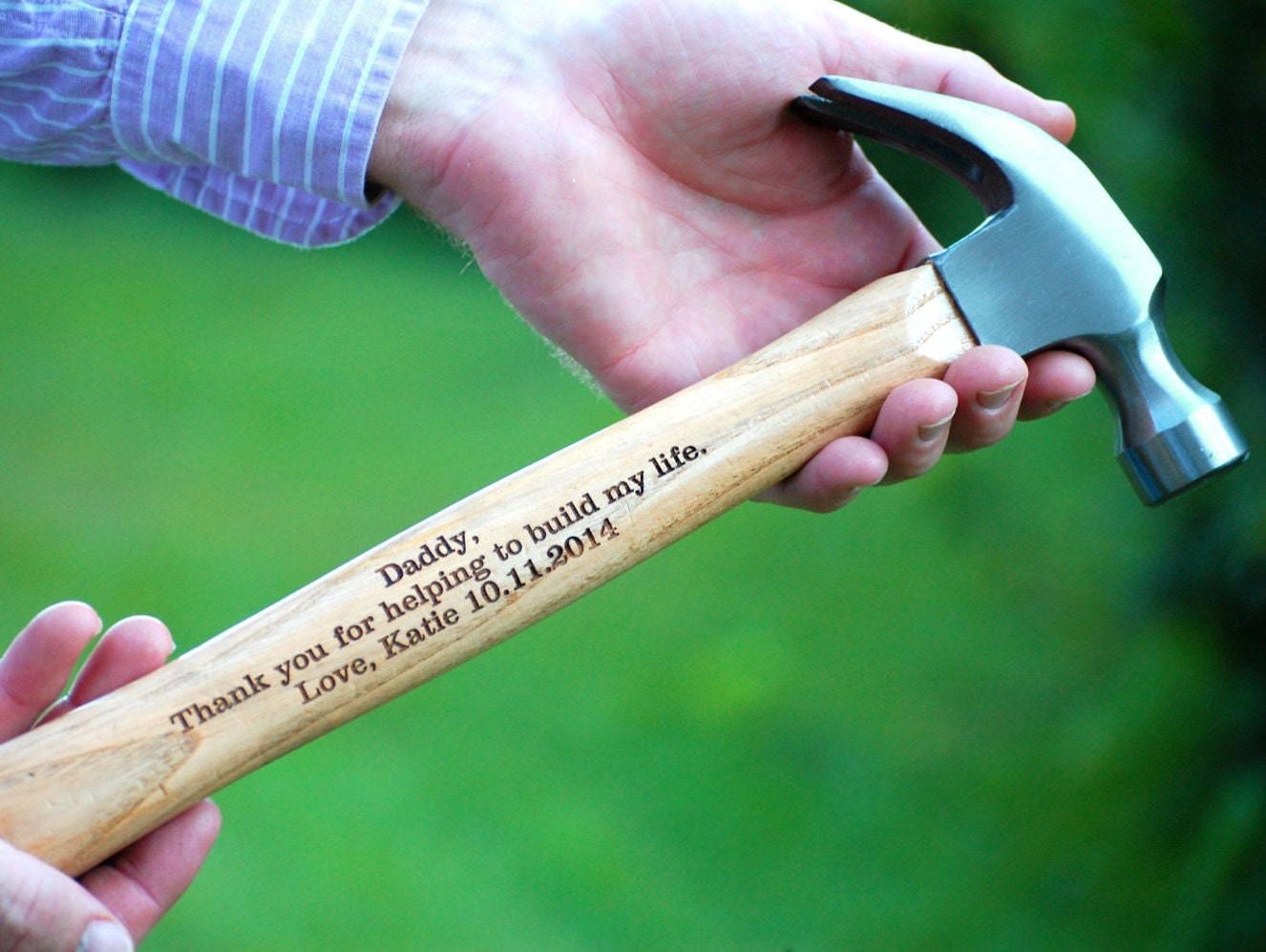 Wedding Keepsake Gifts For The Bride : Personalized Hammer Father of the Bride/Groom Hammer