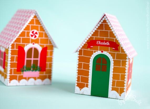 Gingerbread House Favor Box, Gift Box, Christmas Place Card, Christmas ...