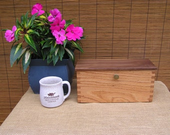 Loose Tea Box, Tea Box,Tea Tins, Wormy Red Oak