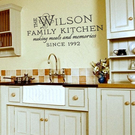 Family Name Decal Kitchen Wall Decor By FleurishWalls On Etsy