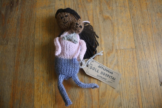 Ready to Ship Hand Knitted Baby Wearing Mother and Baby Dolls