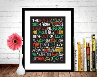 U2 - Beautiful Day Poster, Song Lyrics Print, Music Poster, Song Lyrics