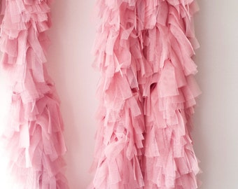 Tulle Fringe Garland for Party and Home Decorations,  Photography Backdrop. Tulle Fringe Boa