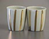 wedding gift / gold espresso cups / housewarming gift / unique espresso cups / sake set