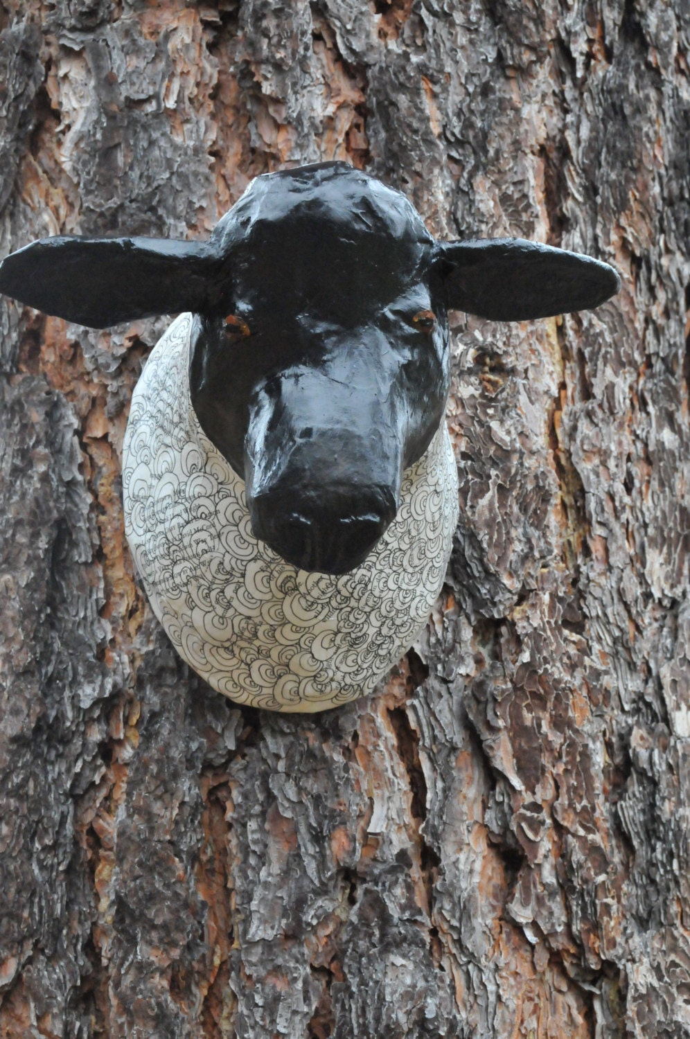 Faux Taxidermy Sheep Fauxidermy Paper Mache Animal Head