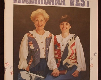 Smoothstitch Americana Vest Pattern Book - Patriotic Vest Patterns - Patriotic Applique Vest Pattern