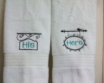 His and hers bath towel set couples towels by for His and hers bathroom set