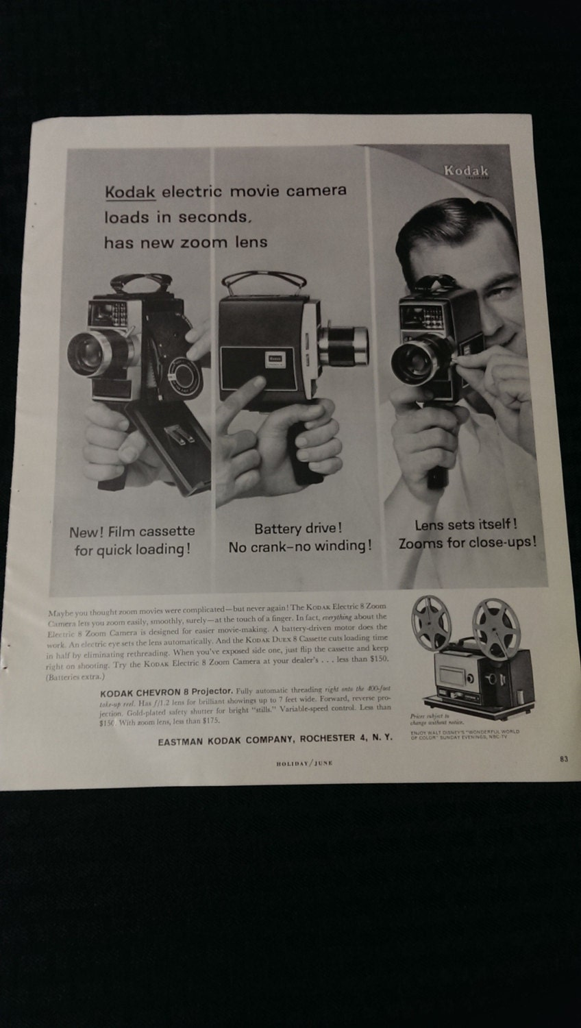 Man Cave Gift Ideas Canada : Vintage ad kodak electric zoom camera gift ideas man