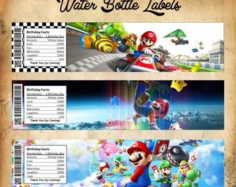 Mario Water Bottle Label