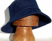 Womens widebrim denim sun hat