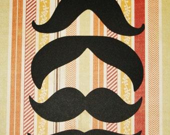 4'' MUSTACHE cut outs / Set of 6 pcs / Card stock photo booth moustaches / Little man / Mustache die cuts / Photo prop / Mustache party